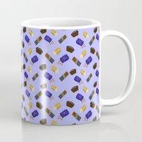 junk food Mugs featuring Junk Food by Danielle Davis