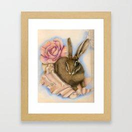Hare Study Framed Art Print