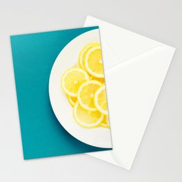 Green and Yellow Stationery Cards