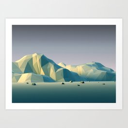 Blue Mountains VH15 Art Print