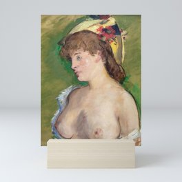 Edouard Manet - The Blonde with Bare Breasts Mini Art Print