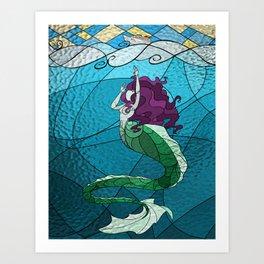 Primeval Mermaid Art Print