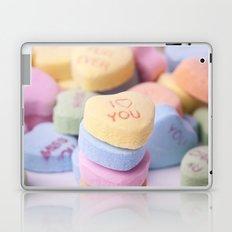 I Love You - Candy Hearts Laptop & iPad Skin
