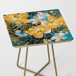 Golden Vintage Aloha Side Table