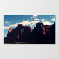 argentina Canvas Prints featuring Salta, Argentina by nZ.Design