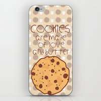 cookies iPhone & iPod Skins featuring Cookies by Mim sh.