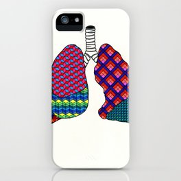 Geometric Lungs iPhone Case