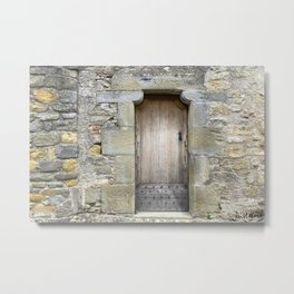 A door inside the City of Carcassonne Metal Print