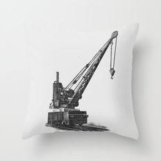 Railroad crane Throw Pillow