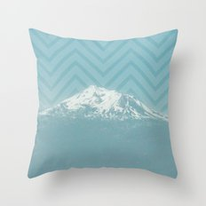 Portland Snowcaps Throw Pillow