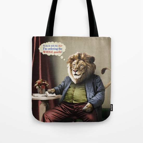 Hungry Lion Tote Bag