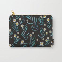 White Flowers Pattern Carry-All Pouch