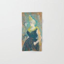 """Henri de Toulouse-Lautrec """"La Clownesse Cha-U-Kao"""" Hand & Bath Towel"""