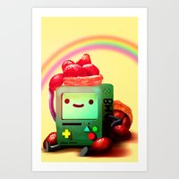 bmo Art Prints featuring BMO by Full Ten