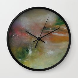 Multi-colours Monet´s Theme of Waterlilies Wall Clock