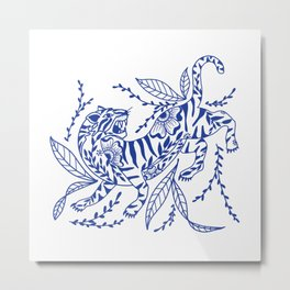 Tiger Warrior Metal Print
