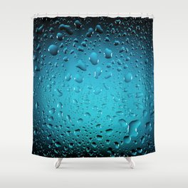 Stylish Cool Blue water drops Shower Curtain