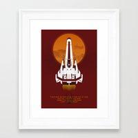 battlestar Framed Art Prints featuring Battlestar Galactica Viper MK II by jake