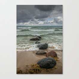 Wilderness Park Shore waves in Sturgeon Bay on Lake Michigan Canvas Print