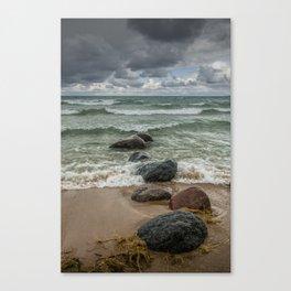 Wilderness Park Shore waves in Sturgeon Bay on Lake Michigan Canvas Print