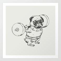 Pug Squats Art Print