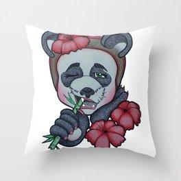 Panda in Red Throw Pillow