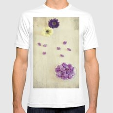 Violet sweets MEDIUM Mens Fitted Tee White