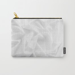MINIMAL WHITE DRAPED TEXTILE Carry-All Pouch