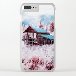Old Barn In The Frost, Idaho Clear iPhone Case