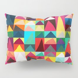Abstract Geometric Mountains Pillow Sham