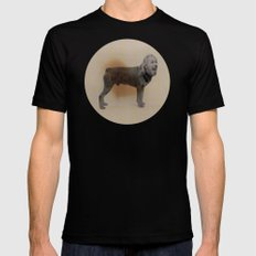 Two dogs and BOB Mens Fitted Tee Black MEDIUM