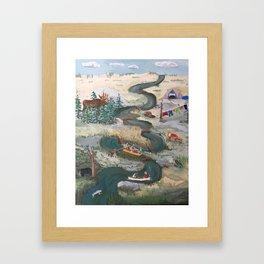 Canoeing Framed Art Print
