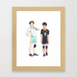 Setter Rivalry 2 Framed Art Print