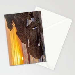 Olhos d'Agua, sunset rocks Stationery Cards