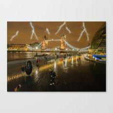 Lightning In London Canvas Print
