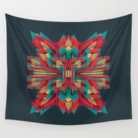 cyberpunk Wall Tapestries featuring Summer Calaabachti Heart by Obvious Warrior