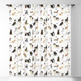 Various Dogs Pattern Blackout Curtain