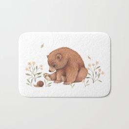 Spring Bear Bath Mat