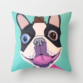Buster The Dog Throw Pillow