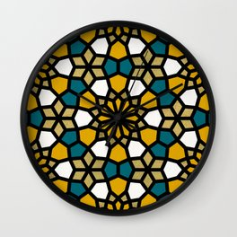 Persian Mosaic – Marigold Palette Wall Clock