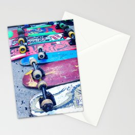 """SKATEBOARD THRIFT"" BY ROBERT DALLAS Stationery Cards"