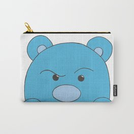Blue Bear Stare Carry-All Pouch