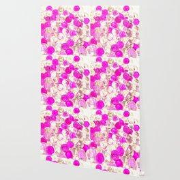 Pink polka dot Photography Wallpaper