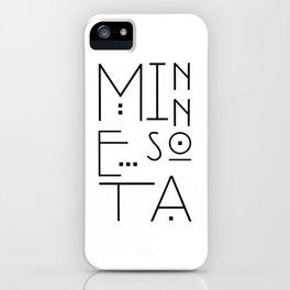 Minnesota Typography iPhone Case