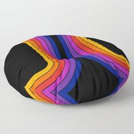 Black Rainbow Tunnel Floor Pillow