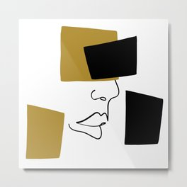 Fashion face Metal Print