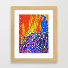 Peacock Glory Abstract Framed Art Print