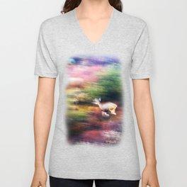 Rainbow Deer Unisex V-Neck
