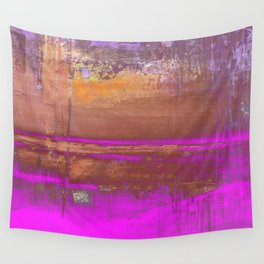 Pink Color Patches Wall Tapestry