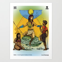 Hathor - Ancient Egyptian Goddess of Fertility Art Print